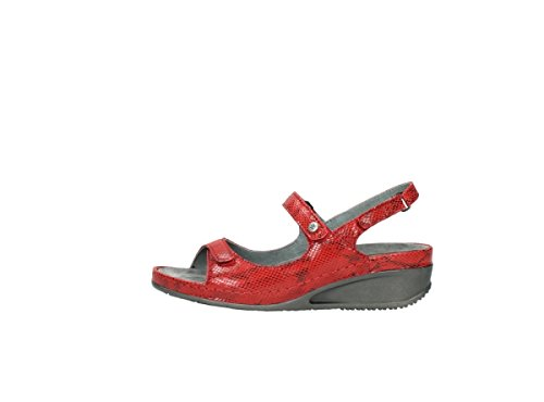 Red 650 Print Leather Caviar profond Confort 00425 nbsp;peu Wolky 78XIX0