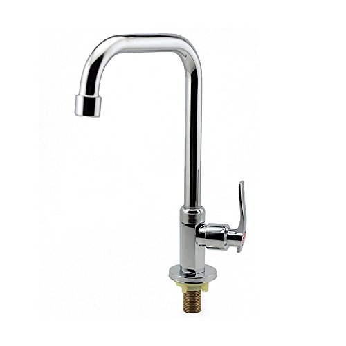 Only Hole Cold Plating Chrome Water Tap Basin Kitchen Bath Wash Basin Faucet