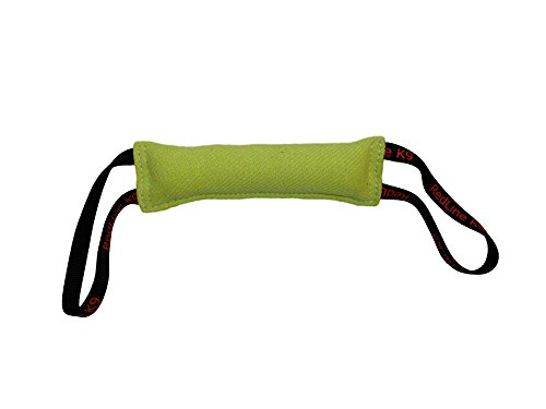 Lime Green French Linen Dog Tug Toy (3