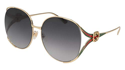 - Gucci GG0225S 001 Gold GG0225S Round Sunglasses Lens Category 3 Size 63mm