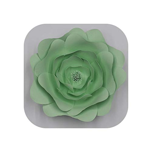 - Large Rose Giant Paper Flowers for Wedding Backdrops Decorations Paper Crafts Baby Nursery Birthday Video Tutorials,Light Green,20CM