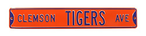 Clemson Tigers Ave, Heavy Duty, Steel Street Sign from Authentic Street Signs