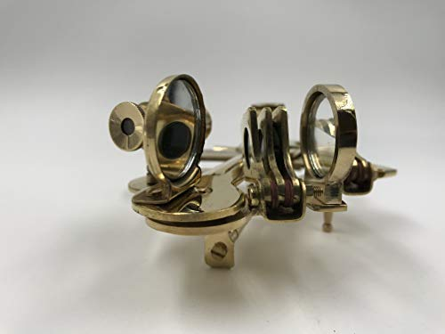 BRASS POCKET SEXTANT Key Chain NAUTICAL ASTROLABE MARINE COLLECTIBLE GIFT