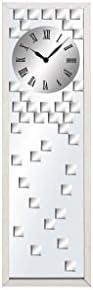 Deco 79 Ss Glass MIR Clock , 13 x 42