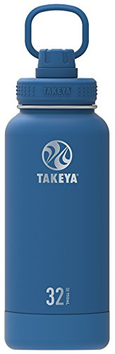 Takeya Actives Insulated Stainless Water Bottle with Insulated Spout Lid, 32oz, Sapphire