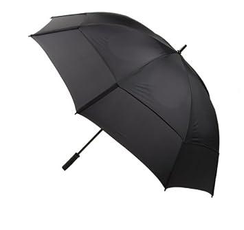 Gustbuster Pro Series – Paraguas de golf oro 62-Inch - 35162BLR, Negro