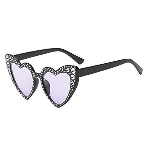 soleil forme Polarisé Classique chat En Heart Lunettes protectrices Meijunter UV de lunettes Love de Protection Élégant Lunettes Violet1 Glasses Oeil Style de Rétro OHxxqzwf