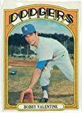 1972 Topps Regular (Baseball) Card# 11 Bobby Valentine of the Los Angeles Dodgers Ex Condition