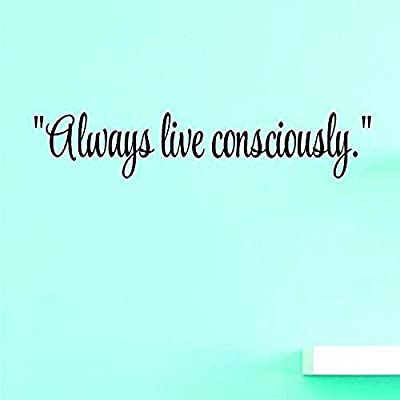Black 8 Inches X 30 Inches Color 8 x 30 Design with Vinyl US V SOS 777 2 Top Selling Decals Always Live Consciously.Wall Art Size
