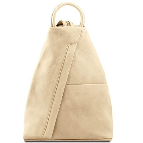 Tuscany Leather Shanghai Leather backpack Beige