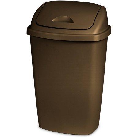 Sterilite 13.2 Gallon Swingtop Wastebasket, Bronze Caseof 4 by Sterilite..............................