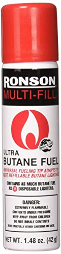 Ronson 99142 Multi-Fill Ultra Butane Fuel, 1.48 oz./42g ()