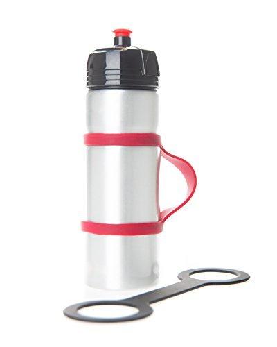 Handiwear (2 Pack, Water Bottle Carrier Grip for Running. Soft Band Holder Strap Makes Any Bottle Handheld. Bike, Gym or Jogging