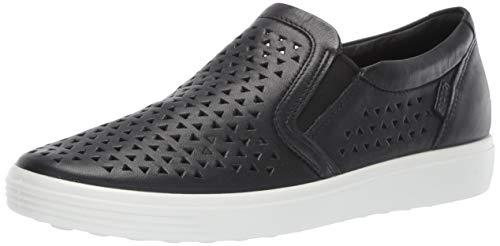 ECCO Women's Women's Soft 7 Slip-on Sneaker, Black Laser Cut, 37 M EU (6-6.5 US)