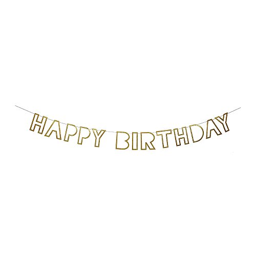 Meri Meri, Birthday Garland, Happy Birthday Gold Garland -