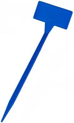 フラワーラベル 10個のプラスチック植物ラベル防水ガーデンラベル曲線T型植物 園芸用ラベル たんざくラベル (色 : 青, サイズ : 30*9*4.5cm)