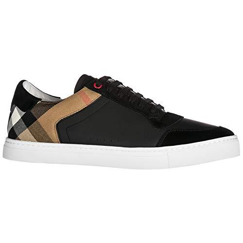 Sneakers in Uomo Pelle Scarpe Nero Burberry Nuove OqTwff
