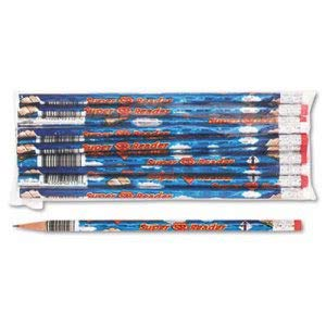 Moon Products Decorated Wood Pencil, Super Reader, HB #2, Blue Barrel, (9 Dozen) ()