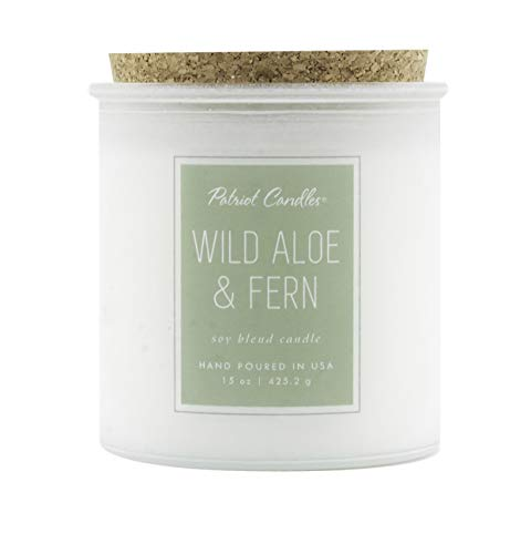 Patriot Candle Wild Aloe & Fern Soy Blend Candle 15 OZ