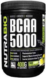 NutraBio BCAA 5000 Powder - 60 Servings (Lemon Lime)