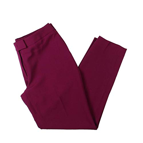 Anne Klein Womens Slim Fit Ankle Dress Pants Purple 0