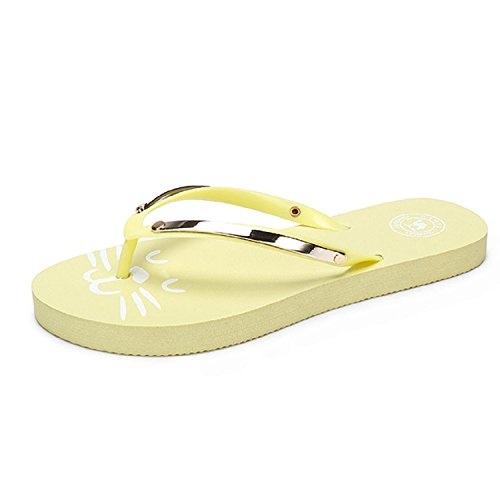 Camel Womens Reef Flip Flops Flat Sandals Thongs Beach Shoes Yellow tjqfVR