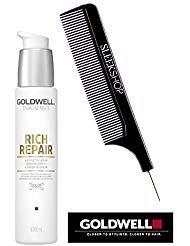 (Goldwell Dualsenses RICH REPAIR 6 Effects Serum (with Sleek Steel Pin Tail Comb) (3.3 oz / 100 ml))