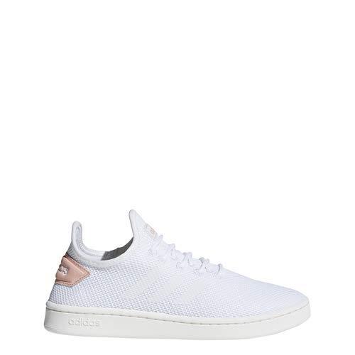 adidas Women's Court Adapt, White/dust Pink, 10 M US