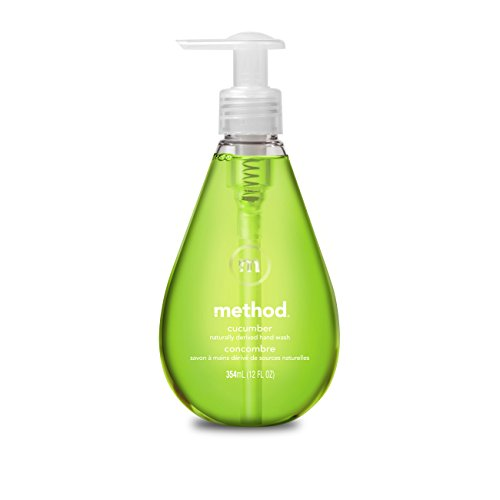 Method Gel Hand Soap, Cucumber, 12 Ounce (Pack 6)