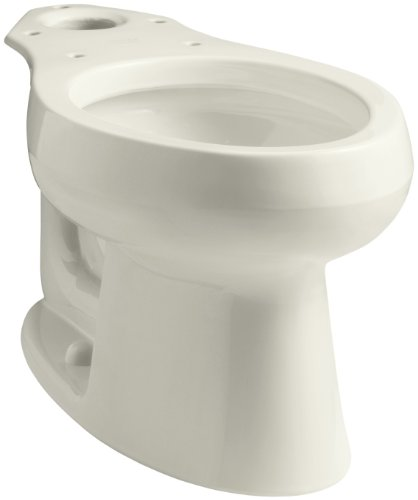 KOHLER K-4198-96 Wellworth Elongated Toilet Bowl, Biscuit (Biscuit Elongated 96 Bowl)