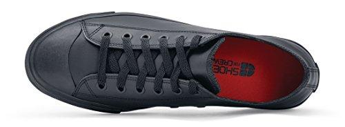 Crews Rutschhemmende Shoes Schwarz Lässige Lederschuhe 38649 DELRAY Herren 42 für for Größe 8 UK 8 qvS5f