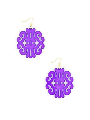 (ZENZII Uptown Swirl Earring (Purple))