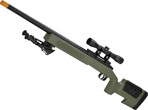 Evike Mcmillan USMC M40A3 SportLine Airsoft Sniper Rifle by ASG (Color: OD Green Exclusive) ()
