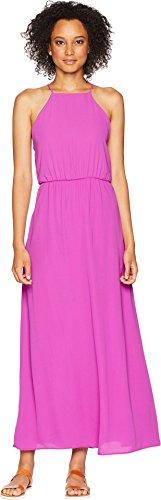 American Rose Women's Ingrid Spaghetti Strap Maxi Dress Magenta Medium