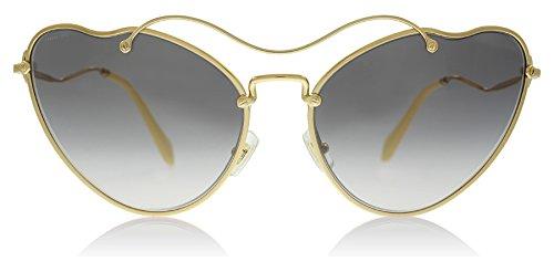 Miu Miu MU55RS 7OE3E2 Antique Gold MU55RS Cats Eyes Sunglasses Lens Category - Miu Miu Cat