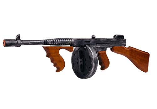 Toy Gangster Tommy Gun 49cm Long With Sound Plastic Fancy Dress