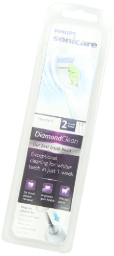 Philips Sonicare DiamondClean replacement toothbrush heads, HX6062/64, White 2 count by Philips Sonicare (Image #6)