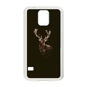Samsung Galaxy S5 Cell Phone Case White deer animal illust choco JNR2043890