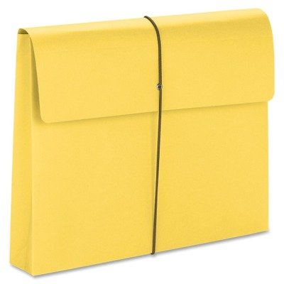 Two Inch Accordion Expansion Wallet with String, Letter, Yellow, 10/BX ()