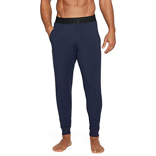 Under Armour Men's Athlete Ultra Comfort Recovery Pants Sleepwear,Midnight Navy /Carbon Heather, Large