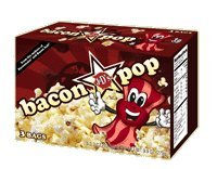 J&D's BaconPop (Bacon Flavored) Microwavable Popcorn, 3-Count Boxes (Pack of 2)