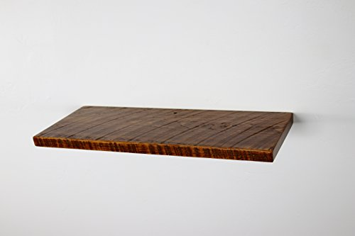 24' x 10' x 1' Rustic, Floating Wood Shelf, Pine, Towels, Open Shelving, Wooden Shelves