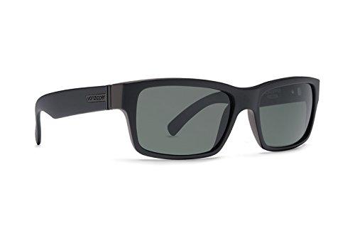 VonZipper Fulton Sunglasses One Size Black Satin ~ Vintage Grey