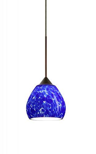 Tay Tay 1 Light Mini Pendant Finish: Bronze, Shade Color: Blue Cloud, Bulb Type: LED ()