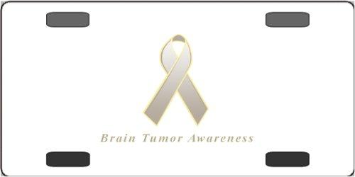 Brain Tumor Awareness Ribbon Vanity License Plate -