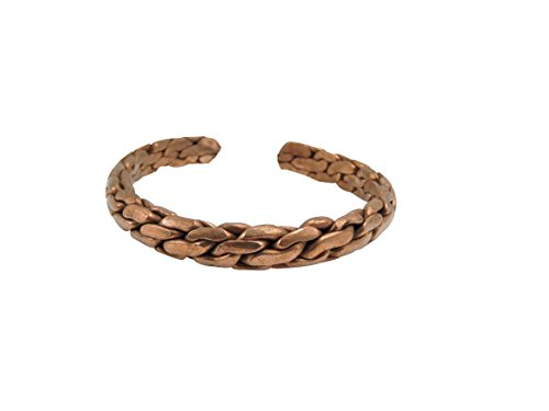 (Hand Crafted Braided Copper Bracelet From Nepal)