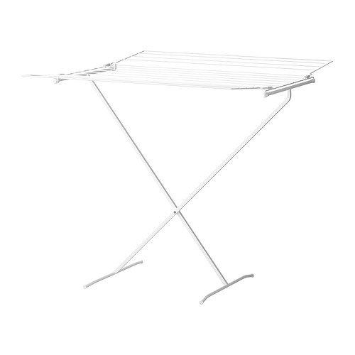 Ikea Wäscheständer ikea kompakter wäscheständer lajban 14 meter klappbar weiß