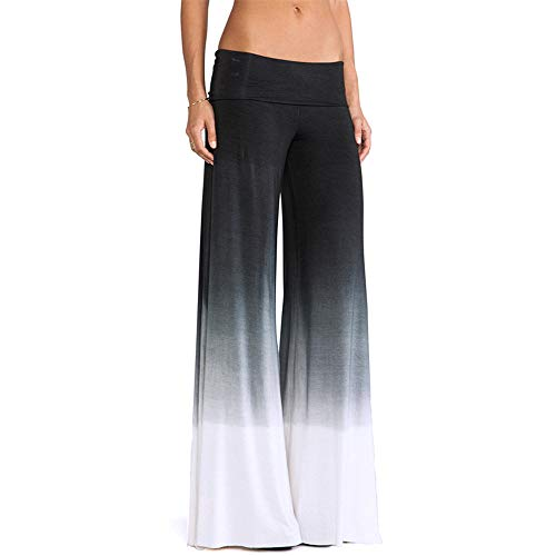 be40d574c218 Hurrybuy Women Sexy Gradient Color Wide Leg Pants Casual Long Loose Pants