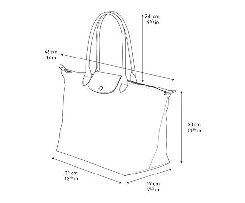 Longchamo Le Pliage Large Tote Bag Gunmetal Grey
