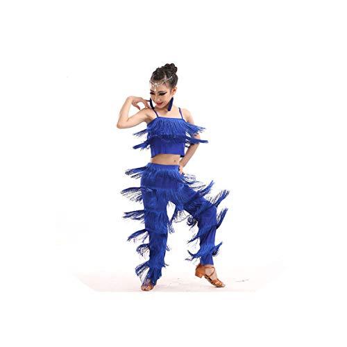 Dance Dress Latin Dance Dresses Sale Ballroom Plus Size Tassel Fringe Dress Pants Sequins Samba Dance,8,L]()